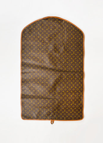 Louis Vuitton The French Luggage Co. Brown Leather and Canvas Garment Bag Backview