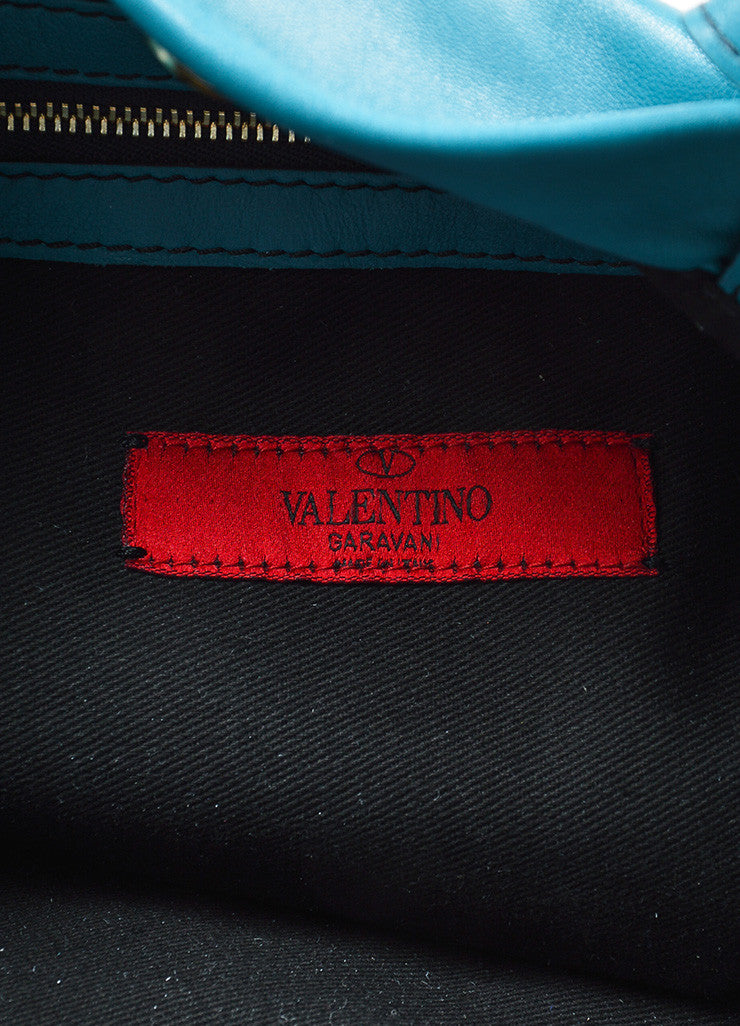 "Turquoise Leather Valentino ""Rose Vertigo"" Hobo Bag Brand"