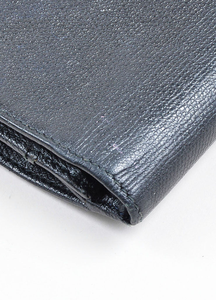Black Chanel Leather Bifold Continental Wallet Detail