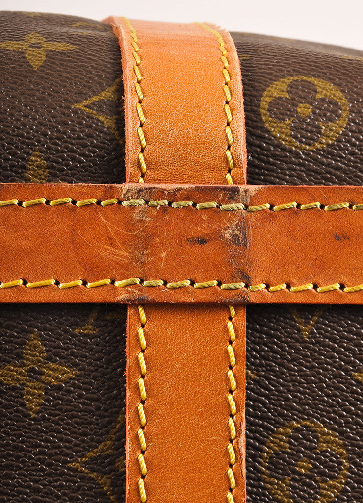 Louis Vuitton Brown Coated Canvas Monogram Hard Case Zip Duffel Bag Detail 3