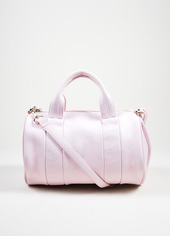 "Alexander Wang ""Gummy Rocco"" Pink Studded Leather Cross Body Bag Frontview"