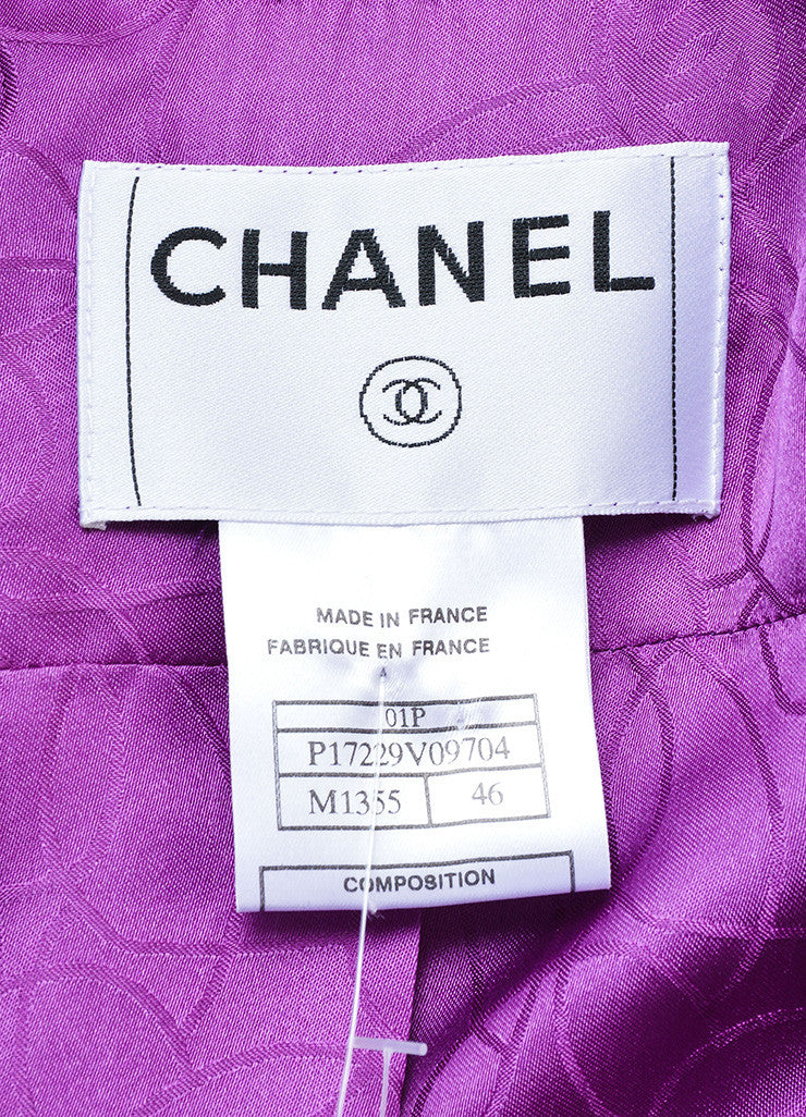 Chanel Purple and Pink Geometric Knit Jacket Brand