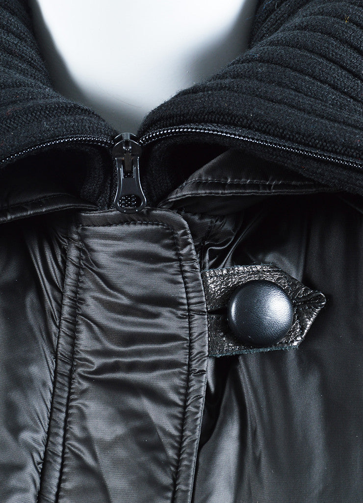 "Black Isabel Marant Nylon Toggle ""Brewster"" Parka Coat Detail"