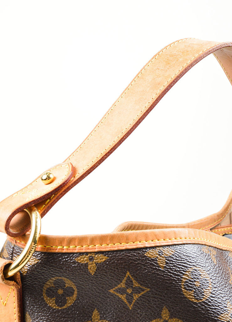 "Brown Louis Vuitton Monogram ""Delightful MM"" Tote Bag Strap"