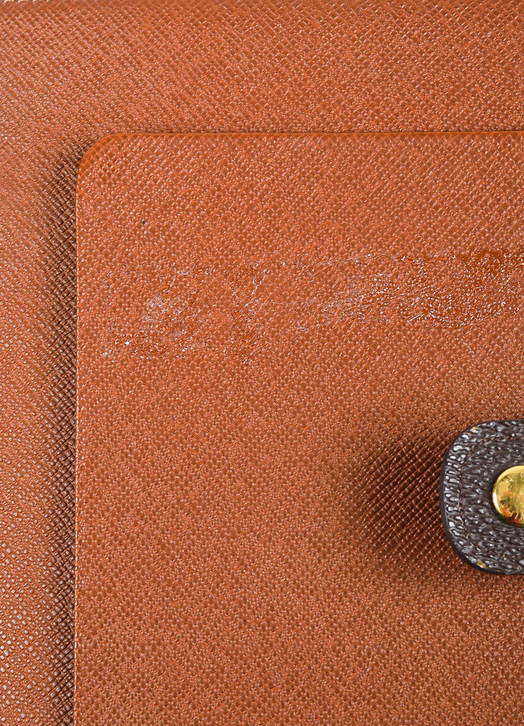 Brown Louis Vuitton Coated Canvas Monogram Medium Ring Agenda Cover Detail 3