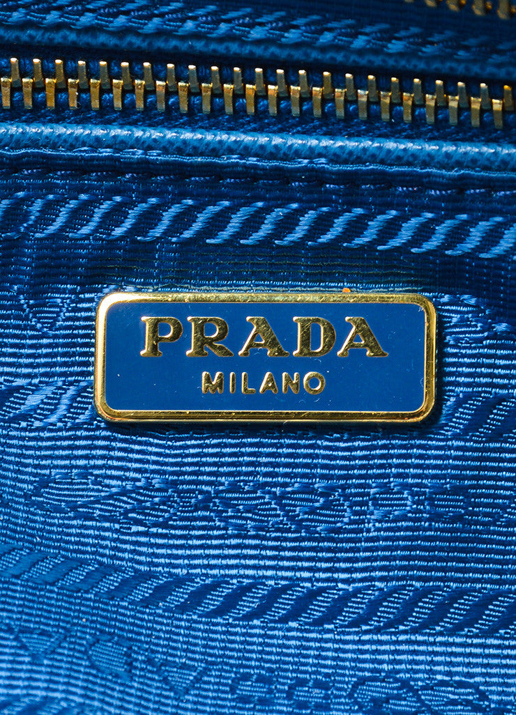 Prada Blue Rectangular Raffia Grass Clutch Bag Brand