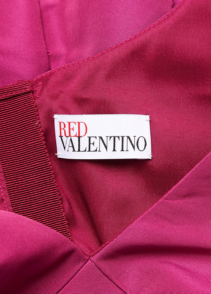 Red Valentino New With Tags Purple and Black Swiss Dot Trim Taffeta Sleeveless Dress Brand