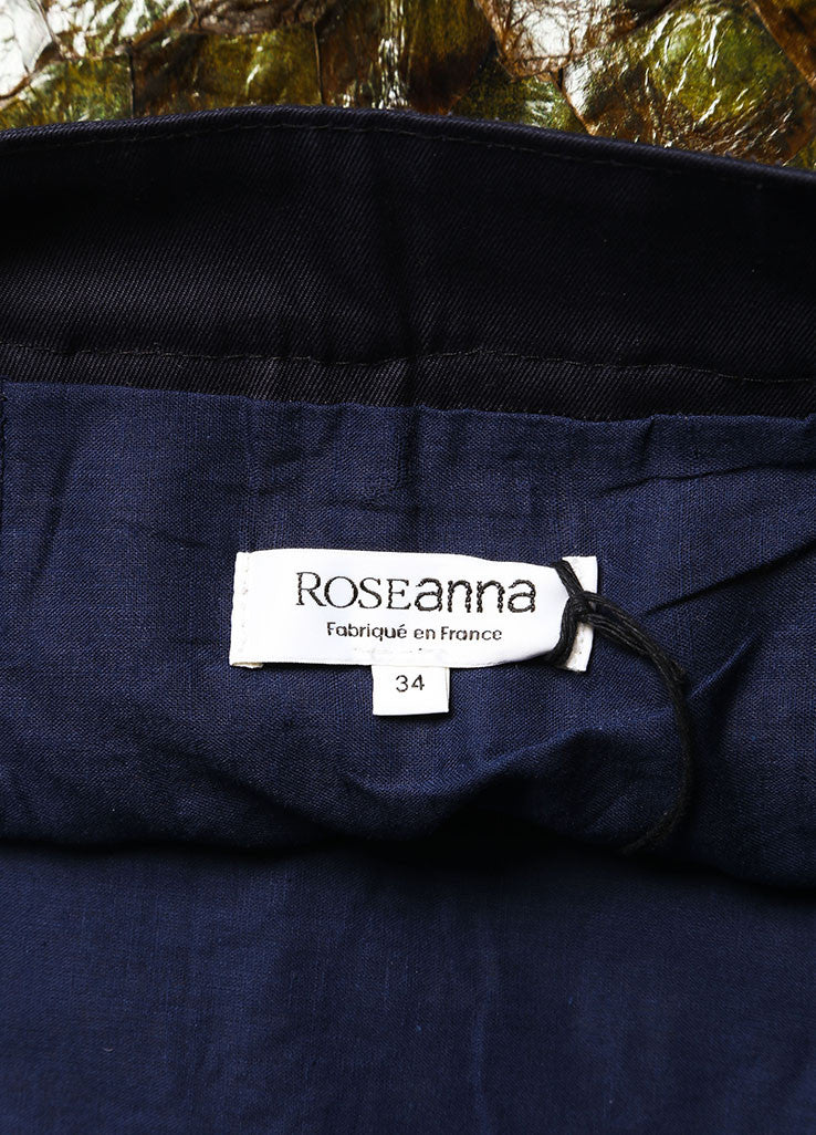 Roseanna New With Tags Green and Navy Fish Scale and Cotton Paneled Mini Skirt Brand