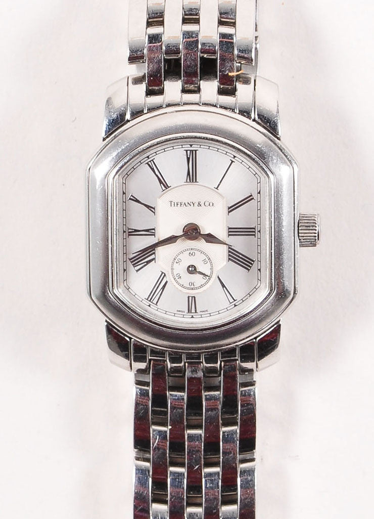 Tiffany & Co. Silver Toned Stainless Steel Watch Detail