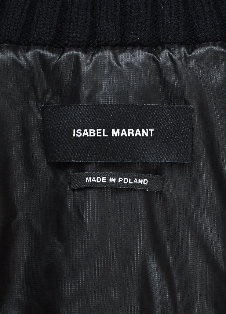 "Black Isabel Marant Nylon Toggle ""Brewster"" Parka Coat Brand"