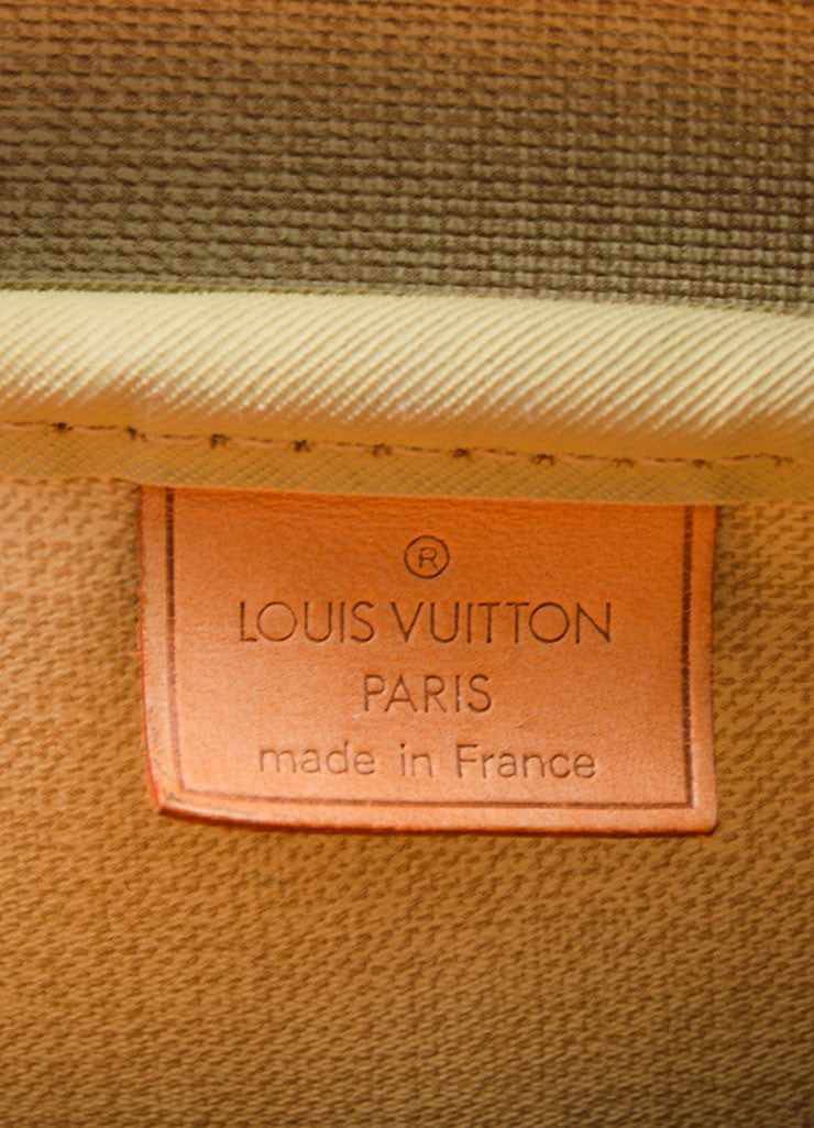 "Brown and Tan Louis Vuitton Coated Canvas Monogram ""Deauville"" Travel Handbag Brand"