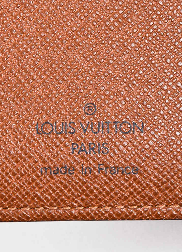 Brown Louis Vuitton Coated Canvas Monogram Medium Ring Agenda Cover Brand