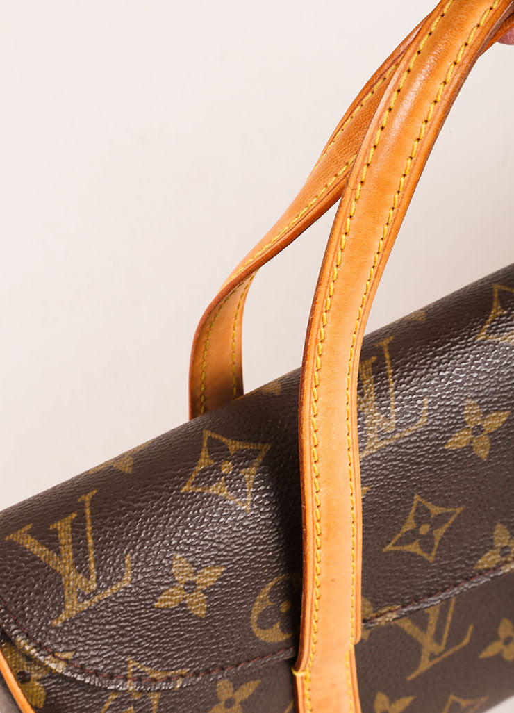 Louis Vuitton Brown Monogram Canvas Flap Handbag Detail 2