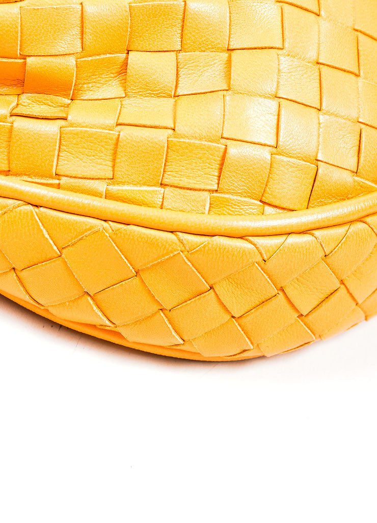 Orange Bottega Veneta Leather Woven Tassel Cross Body Bag Detail