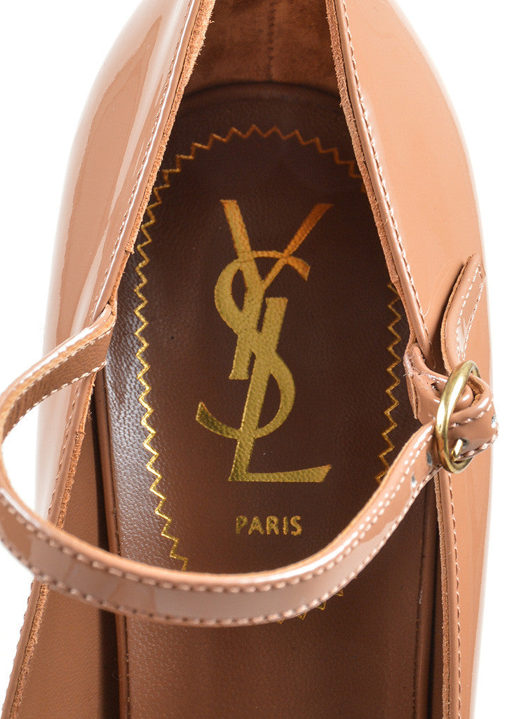 "Brown Yves Saint Laurent ""Tribute"" Mary Jane Plaform Pumps Brand"