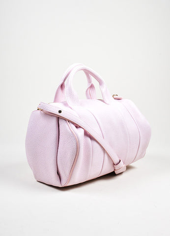 "Alexander Wang ""Gummy Rocco"" PinkStudded Leather Cross Body Bag Sideview"