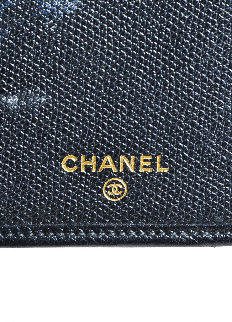Black Chanel Leather Bifold Continental Wallet Brand