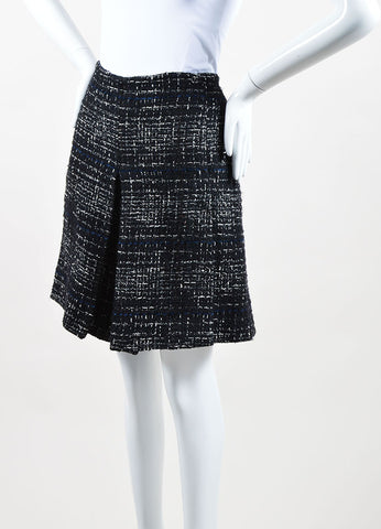 Black White Metallic Tweed Chanel Knit Skort Sideview