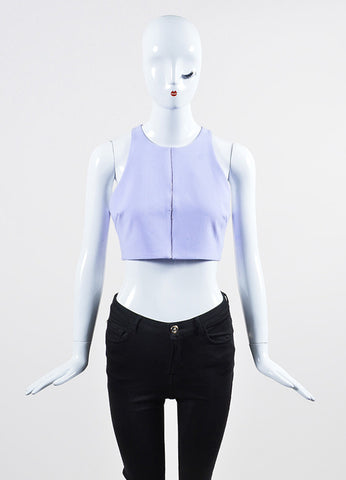 "Lavender Elizabeth and James Perforated Sleeveless ""Corrin"" Crop Top Frontview"