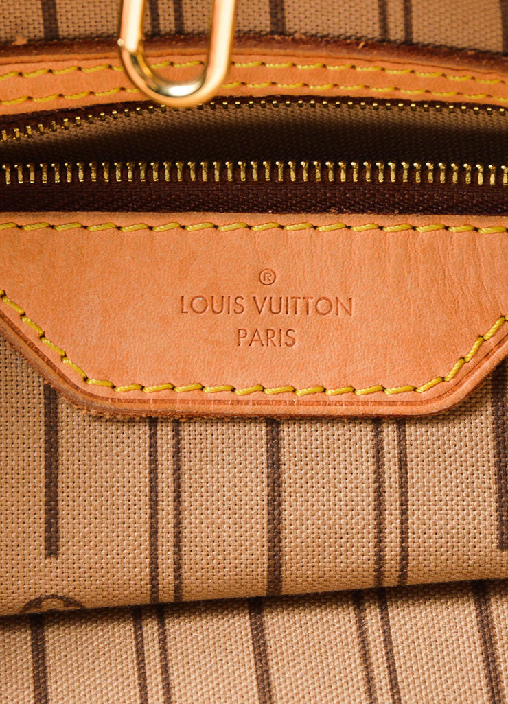 "Brown Louis Vuitton Monogram ""Delightful MM"" Tote Bag Brand"