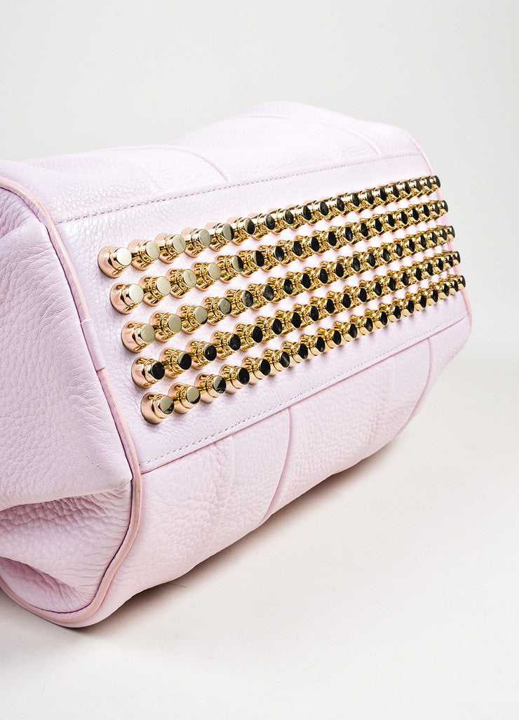 "Alexander Wang ""Gummy Rocco"" PinkStudded Leather Cross Body Bag Bottom View"