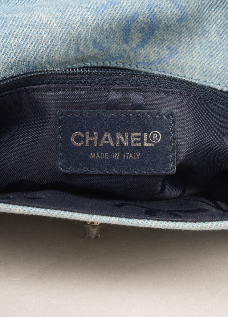 "Chanel Pale Blue Denim ""CC"" Logo Clutch Bag Brand"