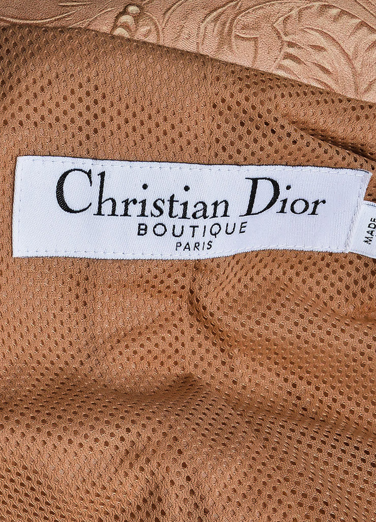Christian Dior Pink and Purple Ombre Leather Scroll Pattern Jacket Brand