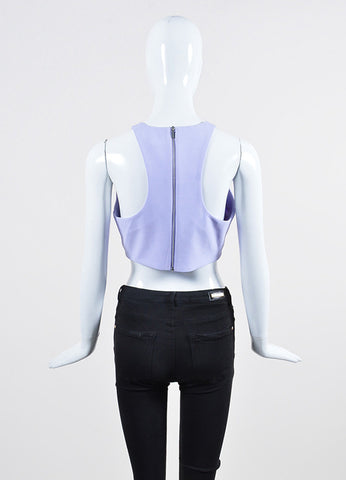 "Lavender Elizabeth and James Perforated Sleeveless ""Corrin"" Crop Top Backview"