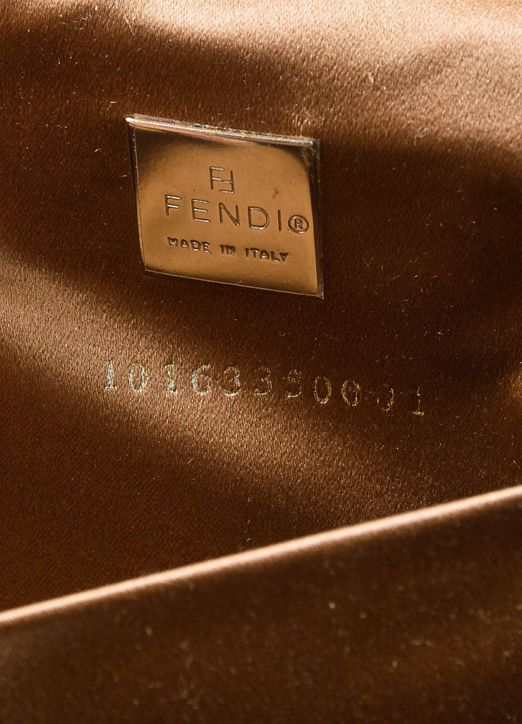 Brown and Beige Fendi Python Leather Box Bag Serial