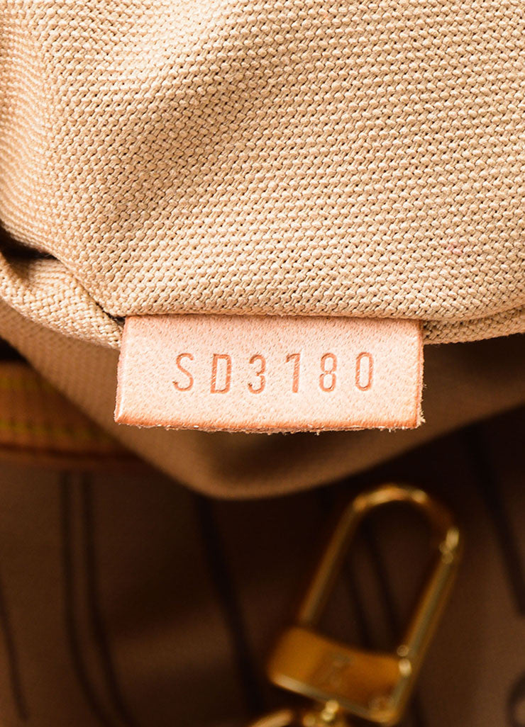 "Brown Louis Vuitton Monogram ""Delightful MM"" Tote Bag Date"