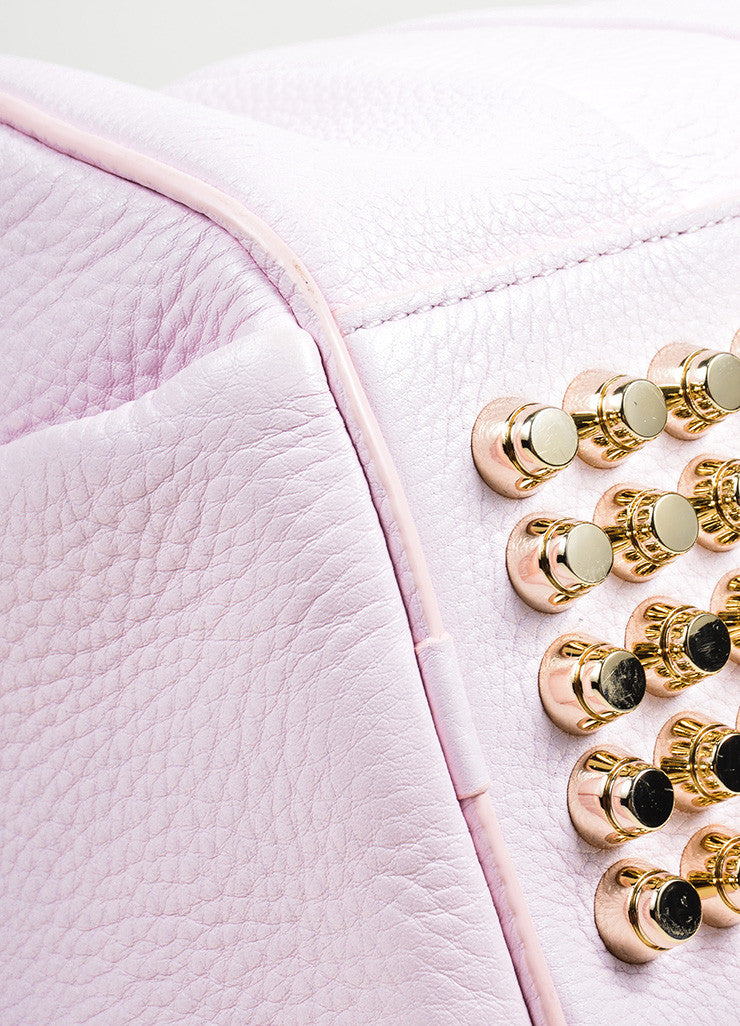 "Alexander Wang ""Gummy Rocco"" PinkStudded Leather Cross Body Bag Detail"