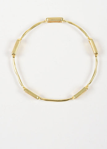 "18K Yellow Gold and Citrine 5 Stone Ippolita ""Rock Candy"" Bangle Bracelet Topview"