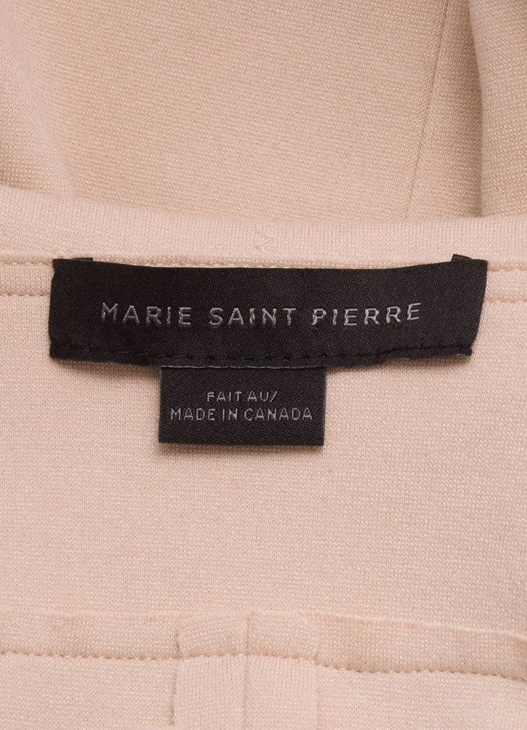 Marie Saint Pierre Blush Pink Knit Long Sleeve Moto Jacket Brand