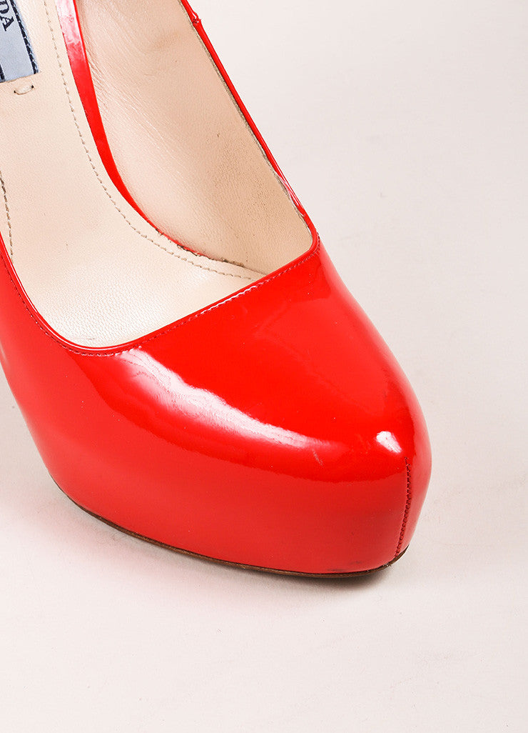 Bright Red Patent Leather Hidden Platform Pumps