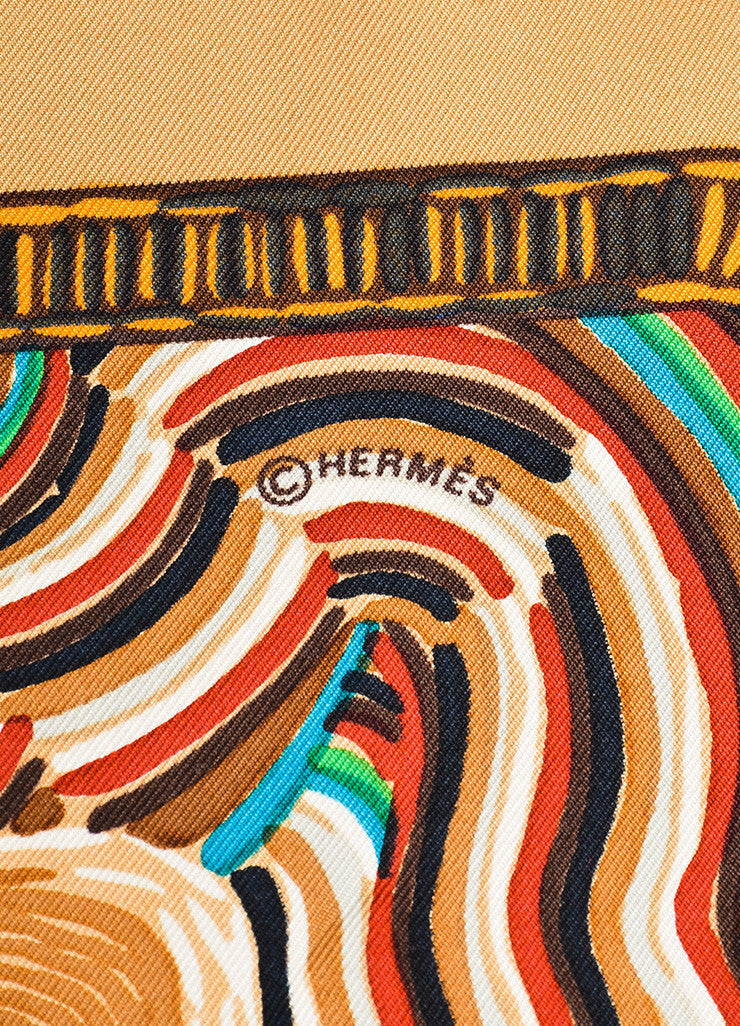 "Multicolor Hermes Sailboat Print ""Henry F. Smith Sailor"" Scarf Brand"