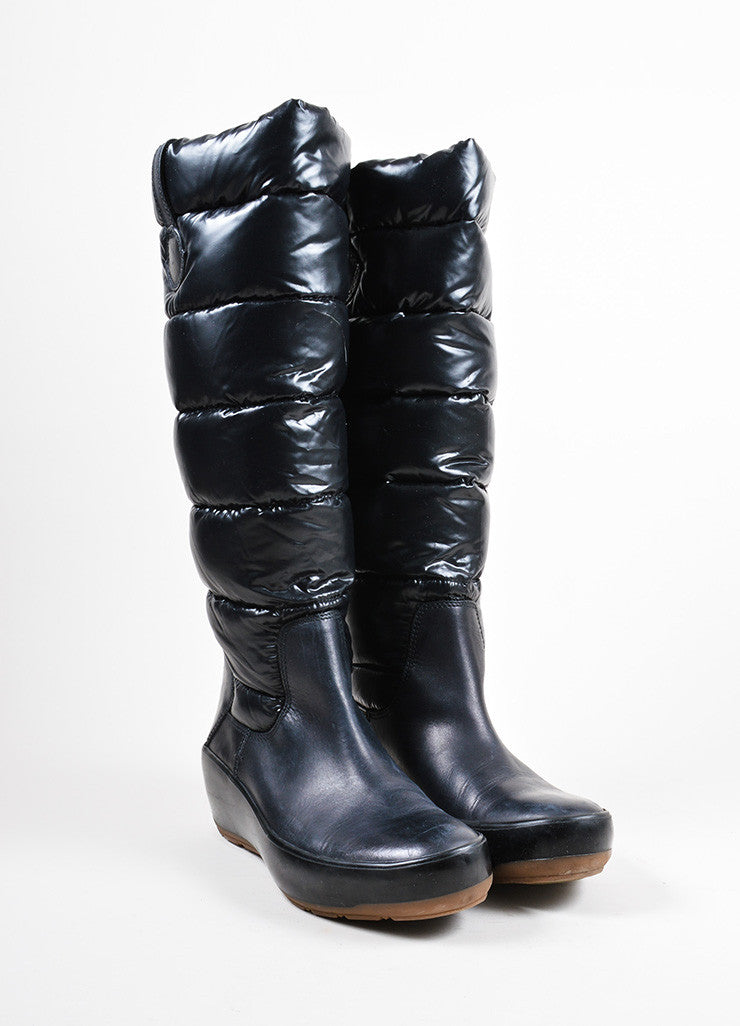 "Black Moncler Down Quilted Puffer ""Nible"" Boots"