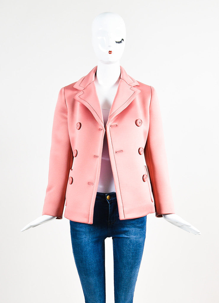 Prada Pink Neoprene Double Breasted Short Jacket – Luxury Garage Sale