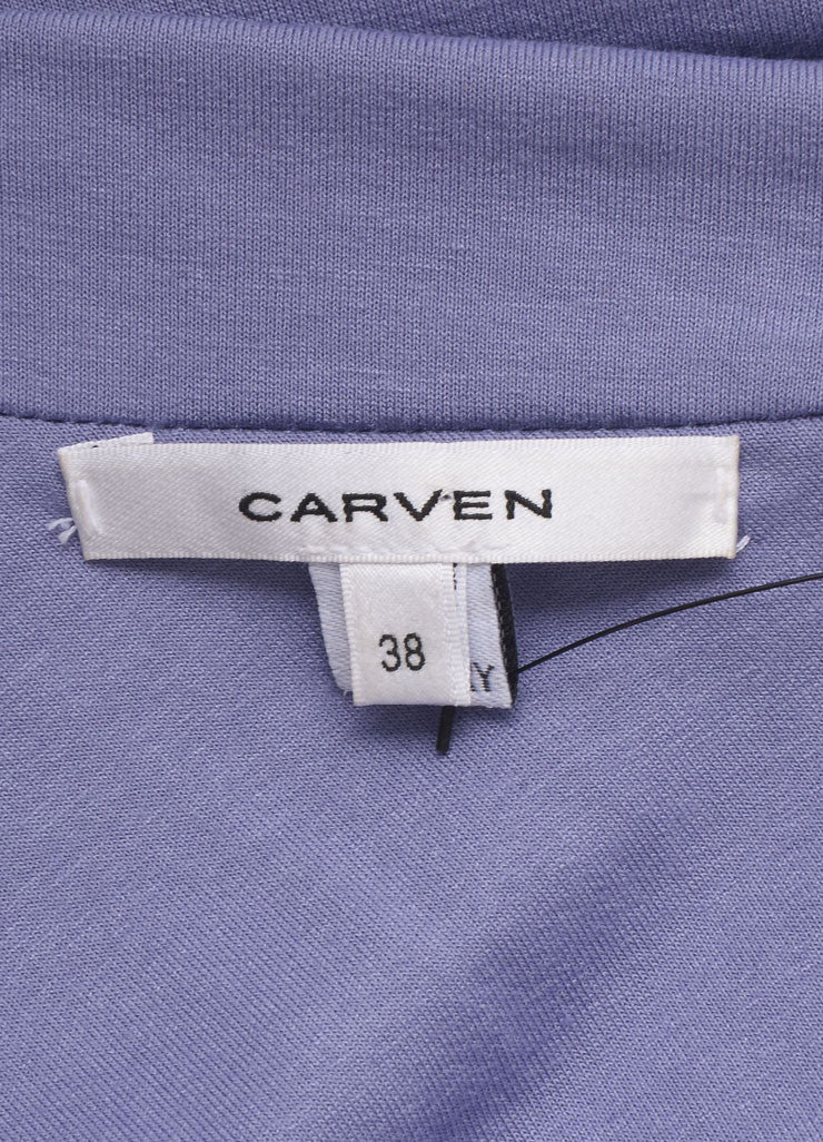 Carven Lilac Stretch Jersey Ruched One Sleeve Dress Brand