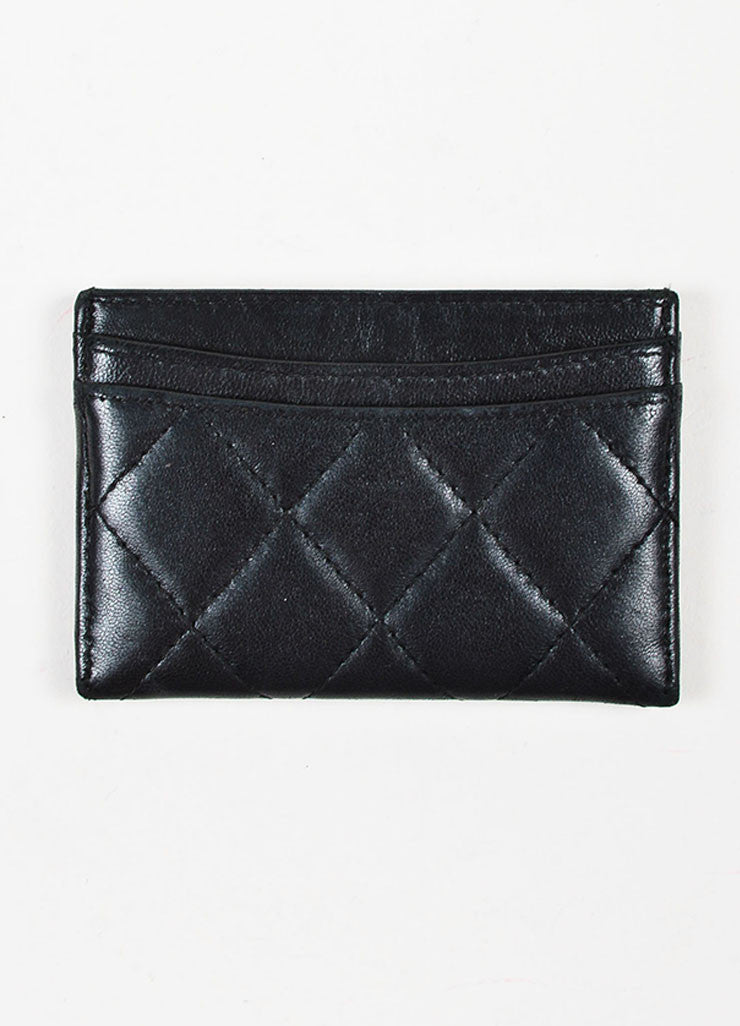 Chanel Black Lambskin Leather Quilted 'CC' Cardholder Backview