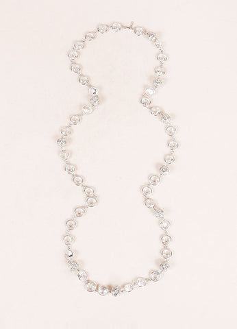 Jarin Sterling Silver and Crystal Beaded Embellished Chain Necklace Frontview