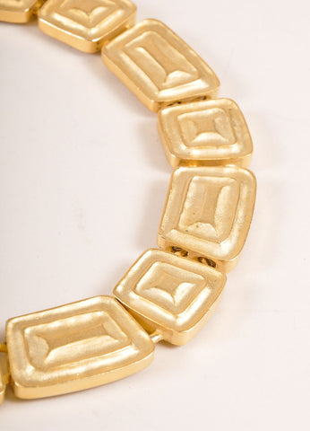 Alexis Kirk Gold Toned Geometric Shape Chain Link Choker Necklace Detail