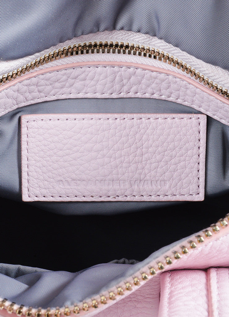 "Alexander Wang ""Gummy Rocco"" Pink Studded Leather Cross Body Bag Brand"