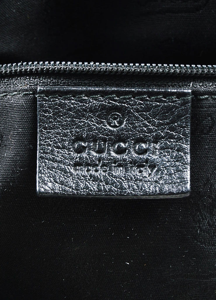 "Gucci Black Guccissima Embossed Leather ""New Web"" Hobo Bag Brand"
