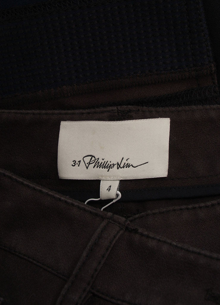 3.1 Phillip Lim New With Tags Black and Grey Cotton Knit Trim Patchwork Skinny Pants Brand