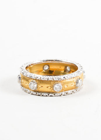 "Buccellati Diamond and 18K Yellow Gold ""Eternelle Capri"" Ring Frontview"