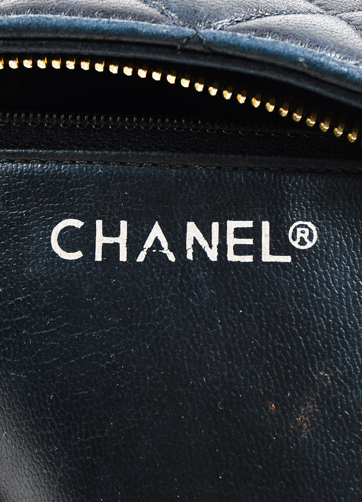 Chanel Black Quilted Lambskin Double Chain Strap Shoulder Bag Brand
