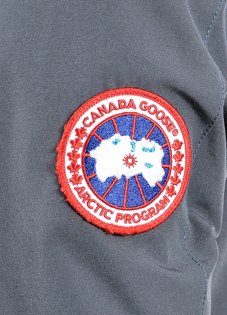 "Canada Goose Graphite Grey Coyote Trim Down Filled ""Victoria"" Parka Detail"