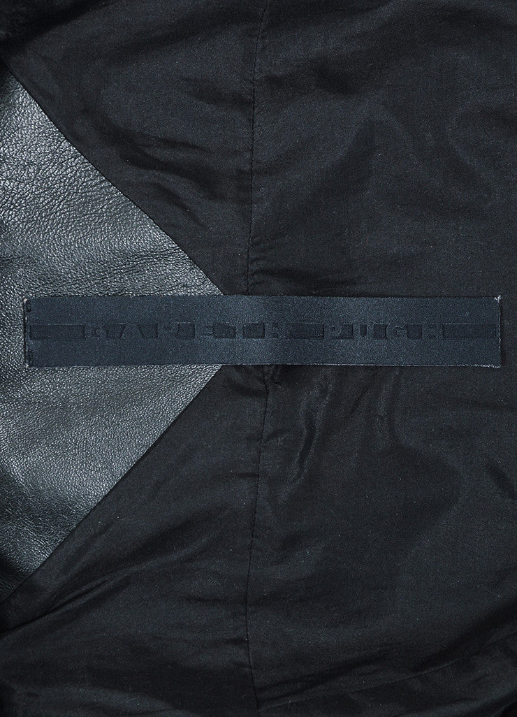 Black Gareth Pugh Leather and Shearling Fur Sleeves Jacket Brand
