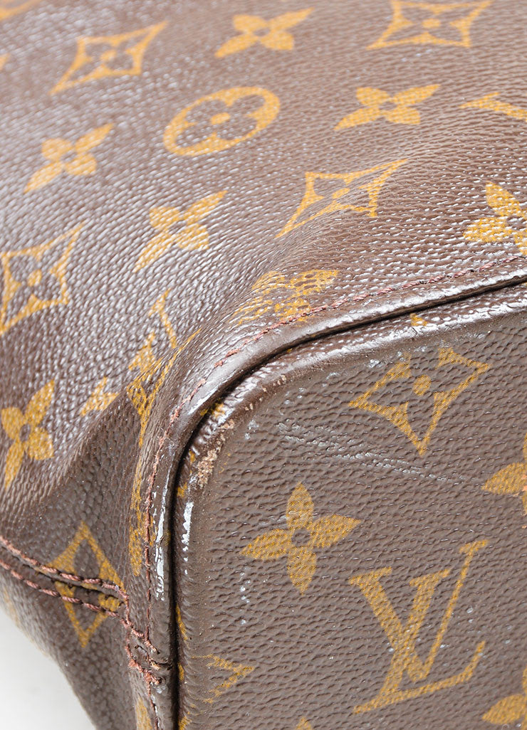 Brown Tan Louis Vuitton Monogram Canvas Luca Tote Bag Detail 1