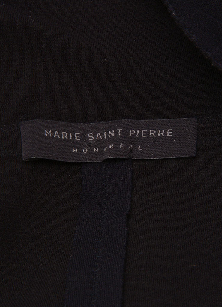Marie Saint Pierre Black Knit Applique Trim Long Sleeve Crop Shrug Brand